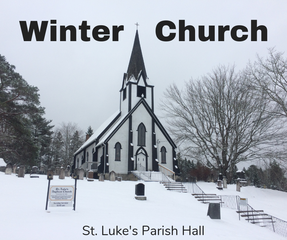 Join us for Winter Church, Sundays at 10:45 am